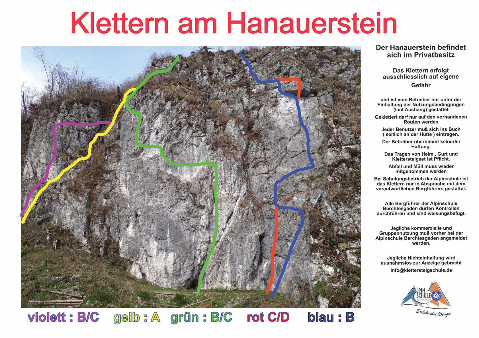 Klettern am Hanauerstein