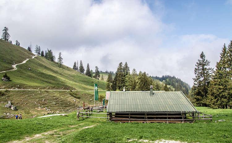 Die Berggaststätte Königsbachalm