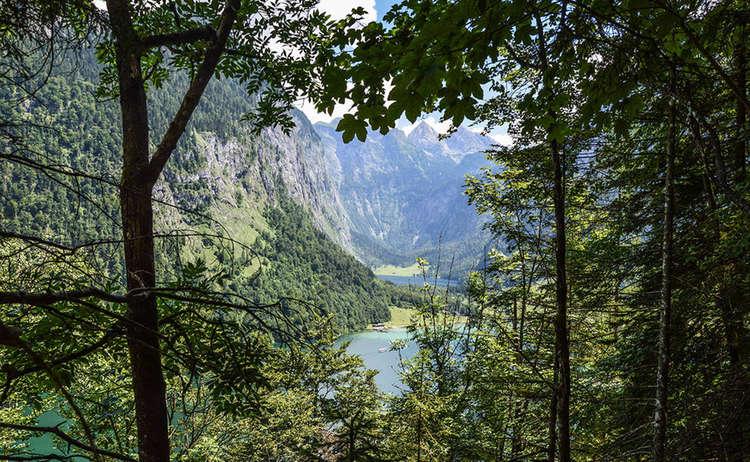 Blick zu Königssee und Obersee