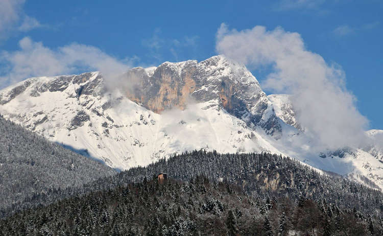 Blick hinüber zum Untersberg