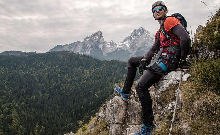 Blick vom Grünstein Klettersteig zum Watzmann