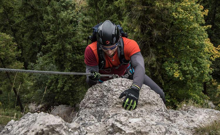 Einstieg zum Grünstein Klettersteig