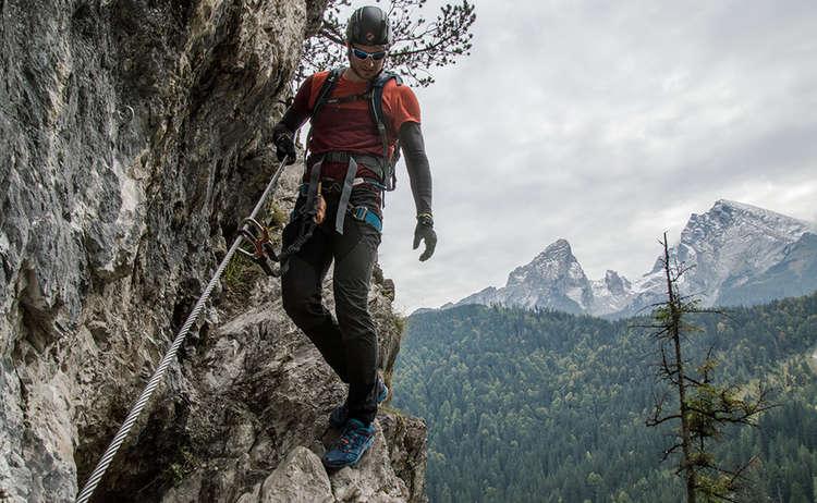 Quergang im Grünstein Klettersteig