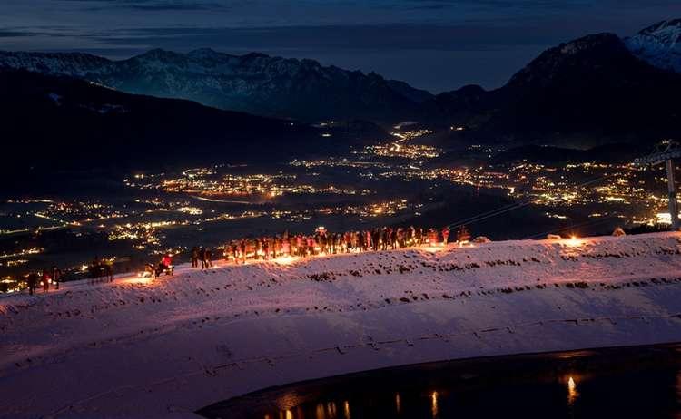 Alpine Laternenwanderung am Jenner