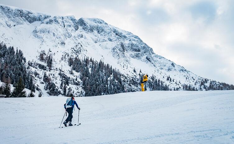 Skitour Auf Piste Jenner