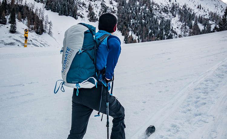 Skitour Aufstieg Piste Jenner
